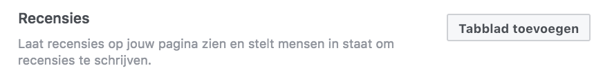 Facebook recensies verzamelen