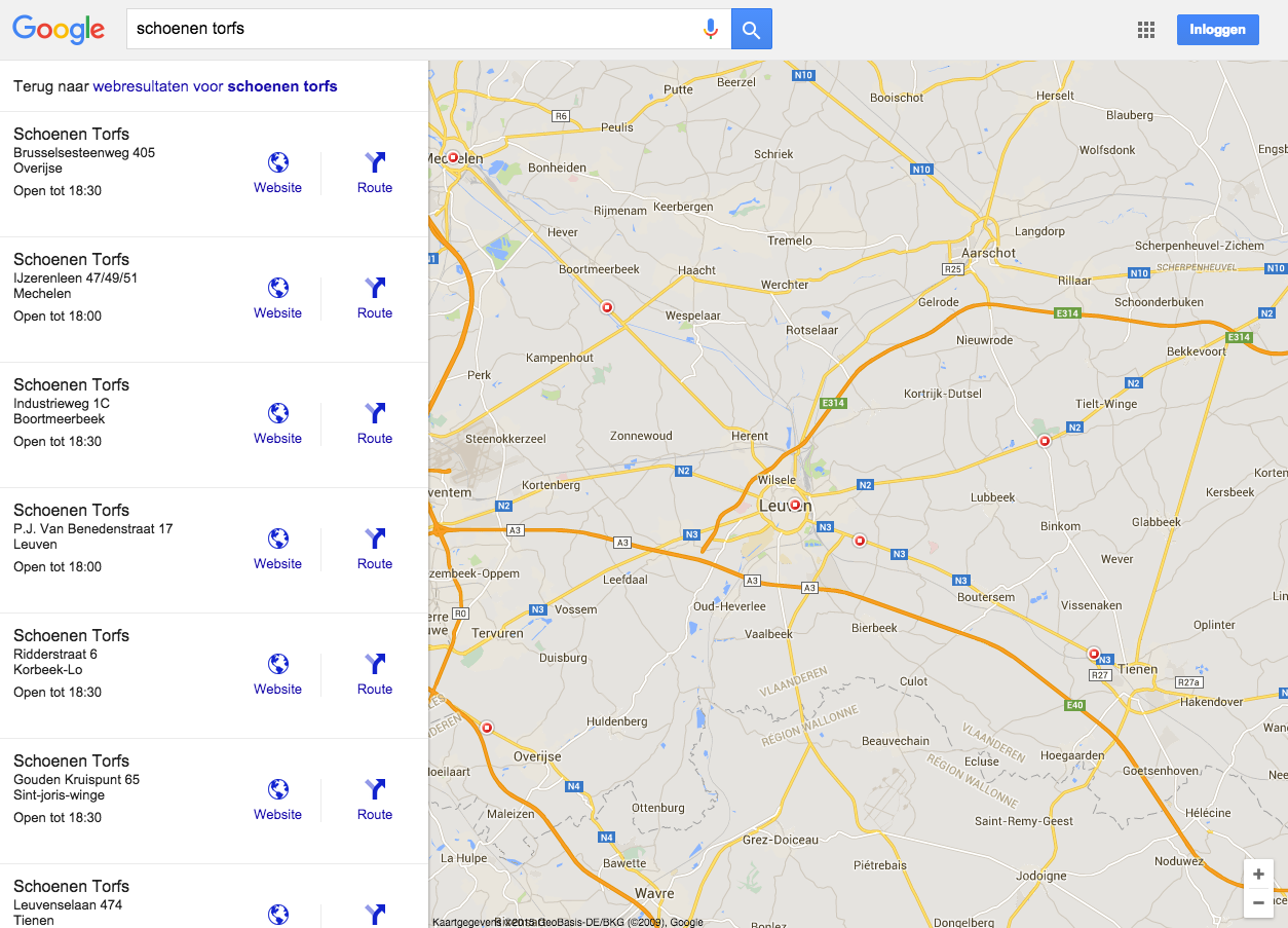 Google My Business meerdere locaties